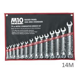 M10 Combination Wrench Set, ANSI (Raised Panel) - Singapore