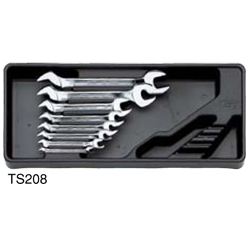 KTC Double Open Wrench Set with Metal Box (Metric) - Japan